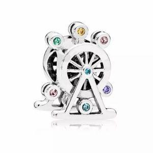 NEW•Silver Ferris wheel DIY charm/bead